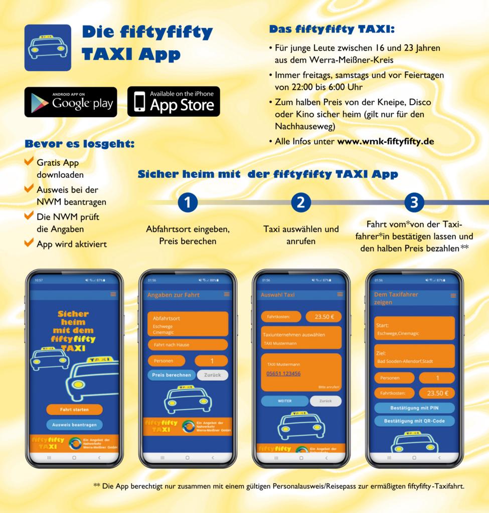 Fifty-Fifty-Taxi als App